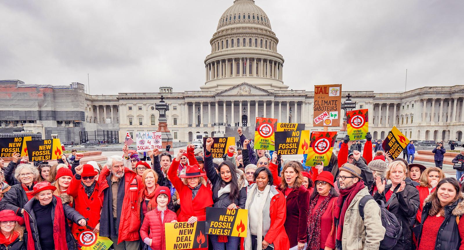 Photos: Fire Drill Fridays with Jane Fonda, Washington, DC USA – Focus on Fossil Fuels (where the focus belongs)