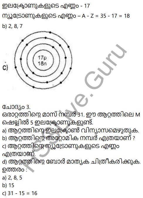 Kerala Syllabus 9th Standard Chemistry Solutions Chapter 1