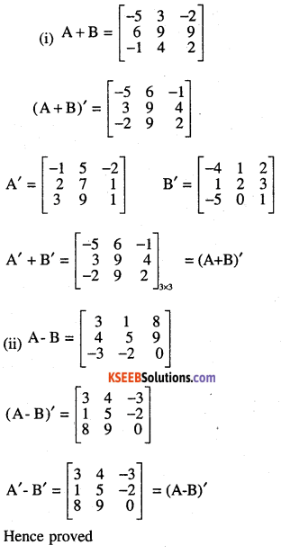 2nd PUC Maths Question Bank Chapter 3 Matrices Ex 3.3