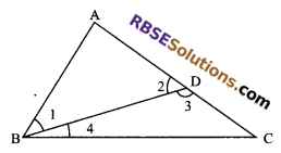 RBSE Solutions for Class 9 Maths Chapter 7 Congruence and Inequalities of Triangles Miscellaneous Exercise 21