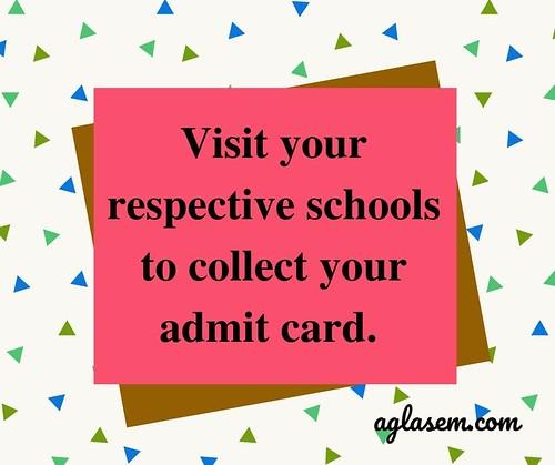 CG Open School 10th Admit Card March 2020