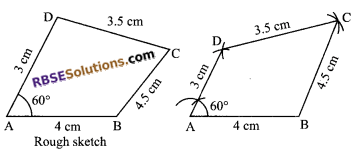 RBSE Solutions for Class 9 Maths Chapter 9 Quadrilaterals Ex 9.3 3