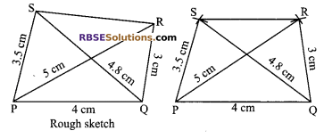 RBSE Solutions for Class 9 Maths Chapter 9 Quadrilaterals Ex 9.3 2