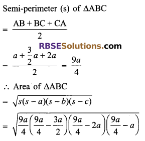 RBSE Solutions for Class 9 Maths Chapter 11 Area of Plane Figures Additional Questions 11