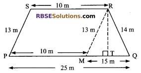 RBSE Solutions for Class 9 Maths Chapter 11 Area of Plane Figures Additional Questions 19