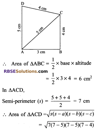 RBSE Solutions for Class 9 Maths Chapter 11 Area of Plane Figures Additional Questions 16