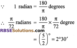 RBSE Solutions for Class 9 Maths Chapter 13 Angles and their Measurement Additional Questions 4