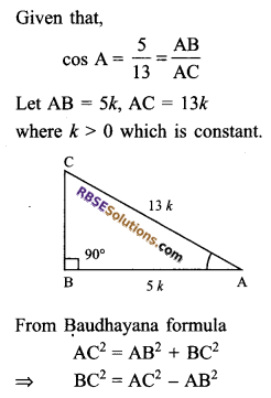 RBSE Solutions for Class 9 Maths Chapter 14 Trigonometric Ratios of Acute Angles Ex 14.1 9