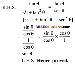 RBSE Solutions for Class 9 Maths Chapter 14 Trigonometric Ratios of Acute Angles Miscellaneous Exercise 41