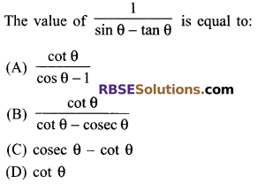 RBSE Solutions for Class 9 Maths Chapter 14 Trigonometric Ratios of Acute Angles Miscellaneous Exercise 4