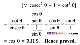 RBSE Solutions for Class 9 Maths Chapter 14 Trigonometric Ratios of Acute Angles Ex 14.3 21