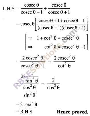 RBSE Solutions for Class 9 Maths Chapter 14 Trigonometric Ratios of Acute Angles Ex 14.3 9