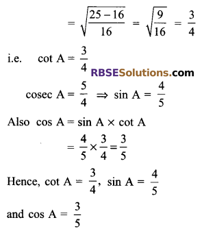 RBSE Solutions for Class 9 Maths Chapter 14 Trigonometric Ratios of Acute Angles Ex 14.2 2