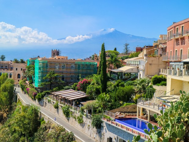 El Etna desde Taormina