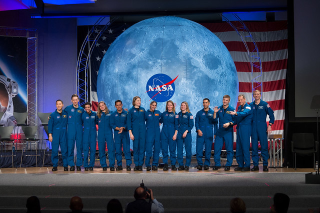 The 2017 Class of Astronauts participate in graduation ceremonies at the Johnson Space Center