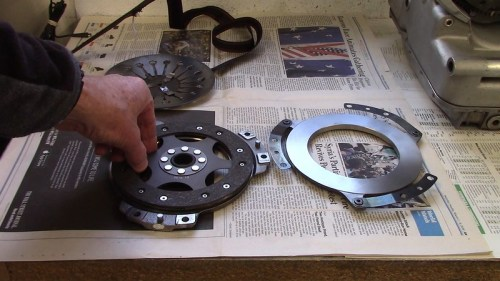 Orientation of Clutch Plate On Front Cover - Sleeve Faces Down