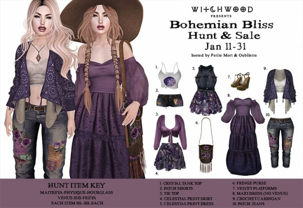 Witchwood- Bohemian Bliss Hunt & Sale