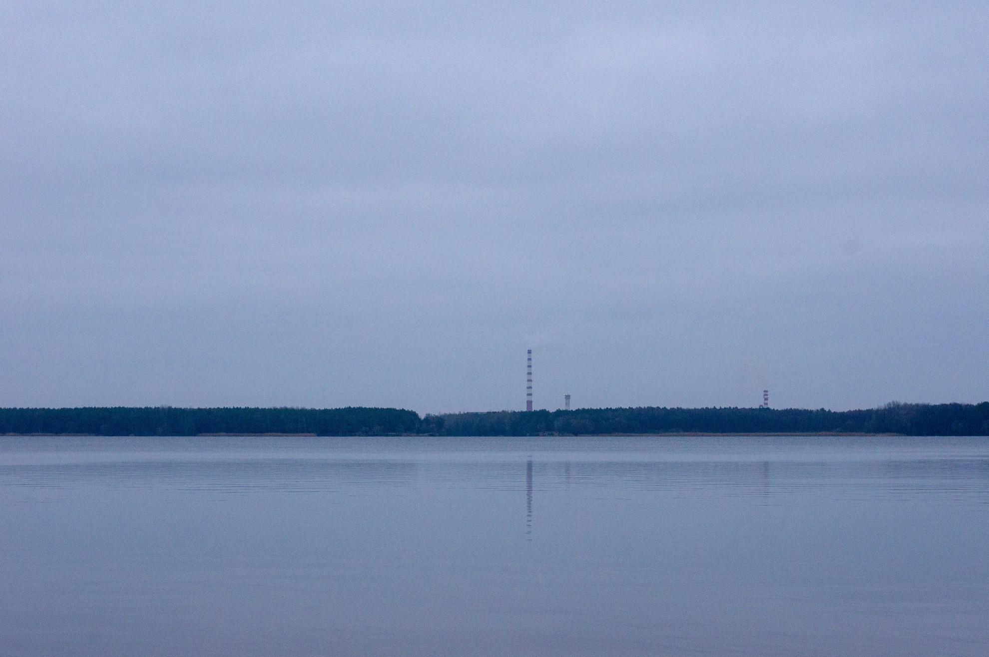 Берёзовская ГРЭС. Вид с Белого Озера