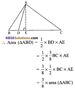 RBSE Solutions for Class 9 Maths Chapter 10 Area of Triangles and Quadrilaterals Additional Questions 10