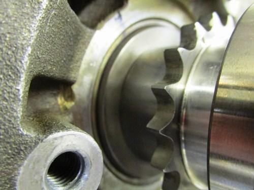 Timing Chain Sprocket Flush Against Face of Crankshaft