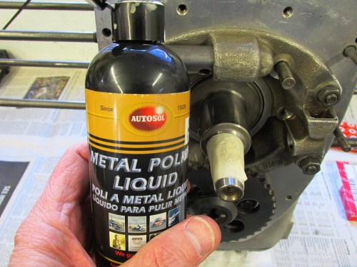 Metal Polish To Clean The Crankshaft Sprocket Journal
