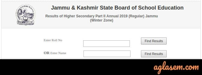 JKBOSE 12th Annual Result 2019 Jammu Division (Winter Zone)