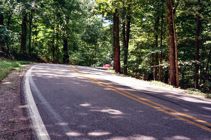 IN SR 45 in Yellowwood State Forest