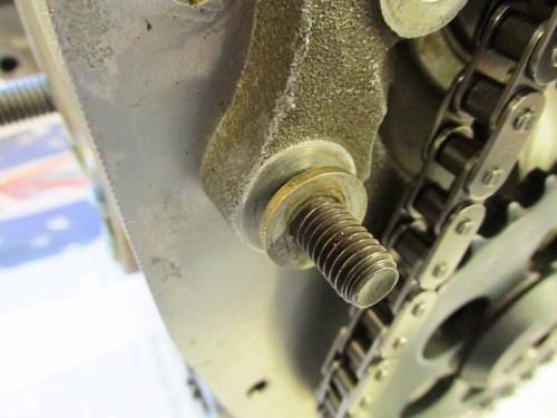 Rubbing Block Hardware Detail-Thick Flat Washer Orientation