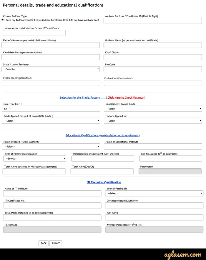 Steps of OFB Apprentice Recruitment 2020 Application Form