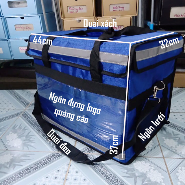 Túi giao hàng túi giữ nhiệt đeo vai cho Shipper Cần Thơ