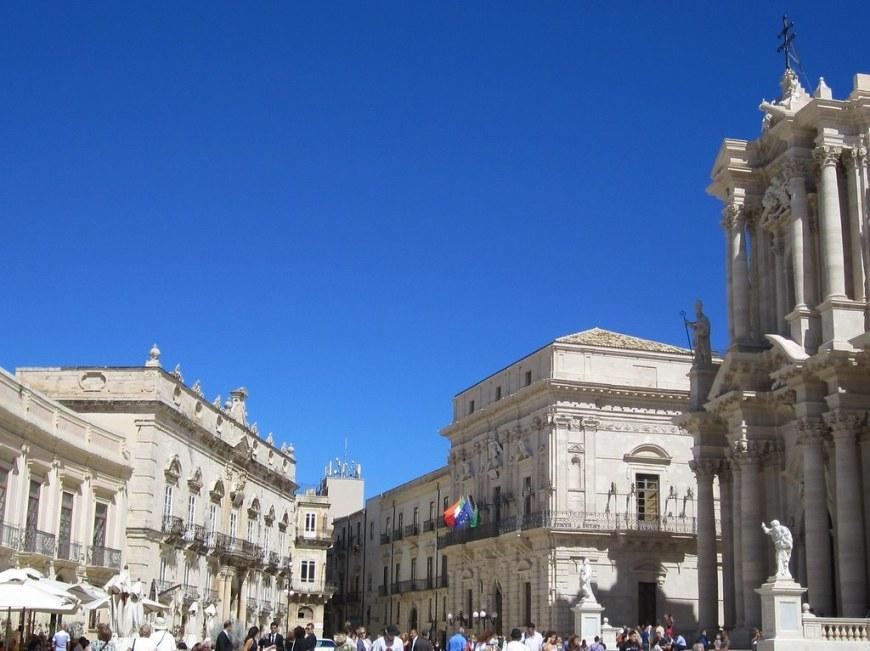 Piazza del Duomo Syracuse Sicily;