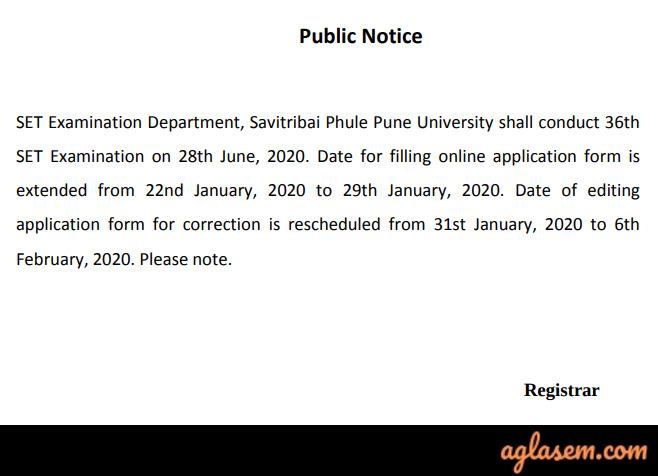 Maharashtra SET Application Form Correction 2020