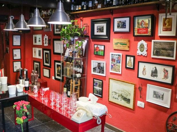 Zona de cata del Museo de Malvasia en Icod de los Vinos