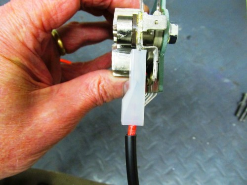 """B+"" Wire Spade Terminal Goes On Large Diode Board Spade Terminal On The Right Side Of The Board"