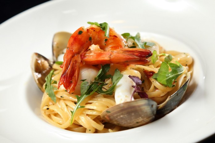 forte - Linguine Aglio e Olio with Tiger Prawn 大蝦香蒜扁意粉