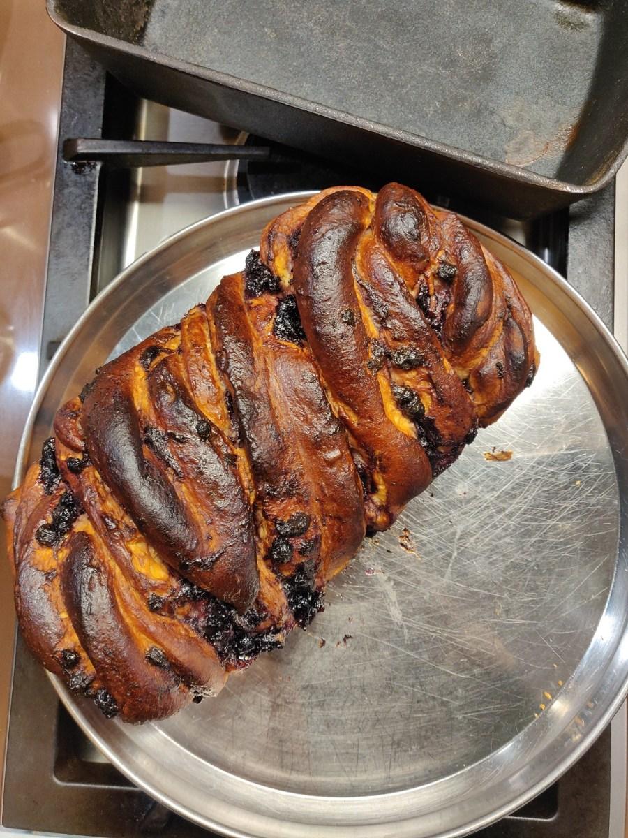 Blueberry Babka Braided Bread