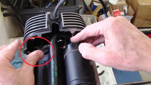 Push Spade Terminal Through Hole In Inner Timing Cover