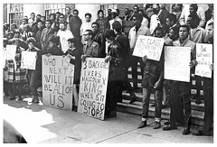 Howard students demonstrate after King's murder: 1968