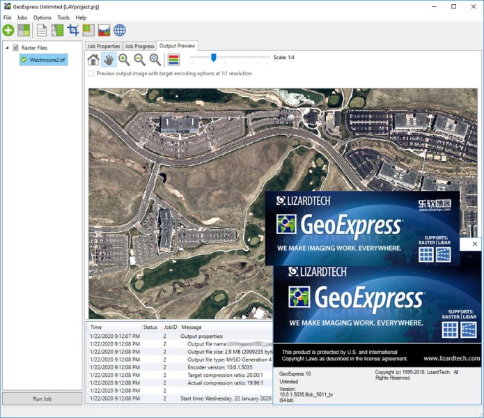 Working with Extensis GeoExpress Unlimited 10.01 full license