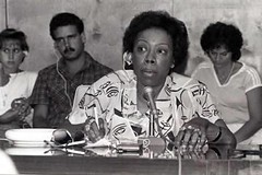 Black liberation leader Gwen Patton: 1980 ca.
