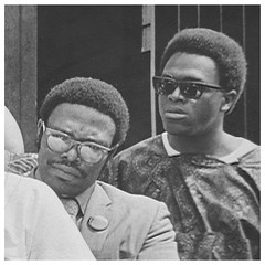 Kwame Afoh and Reginald Booker at bus protest: 1970