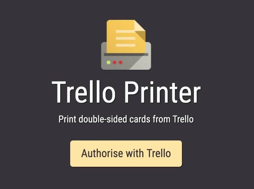 Trello Printer