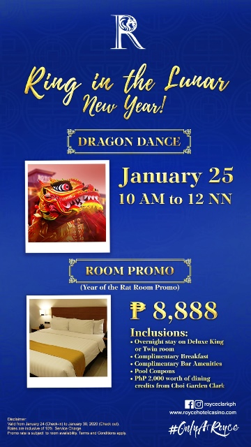 Royce Hotel and Casino Chinese New Year Promo