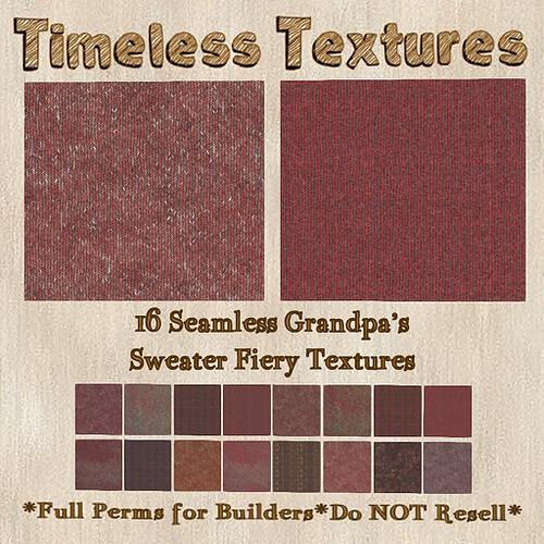 TT 16 Seamless Grandpa's Sweater Fiery Timeless Textures