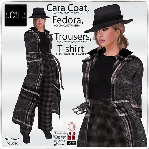 :.C!L.: Winter Cara Coat, Fedora, Trousers and Top Poster
