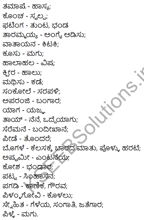 Siri Kannada Text Book Class 7 Solutions Gadya Chapter 7