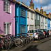 A colourful side street in Brighton