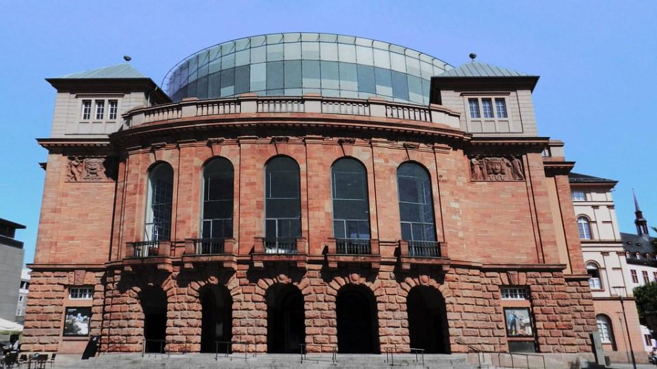 edificio Teatro Estatal de Mainz Staatstheater Mainz Maguncia Alemania