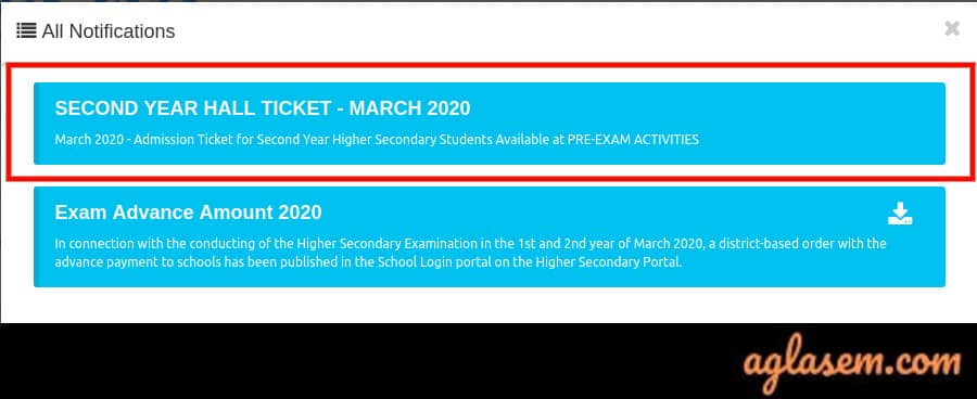 Kerala Plus Two Hall Ticket 2020