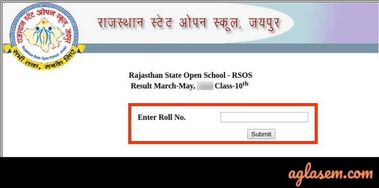 RSOS 10th Result March/ May 2020